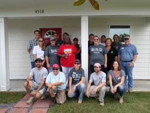 HFHMGC staff with Homeowner, Ms. Sally
